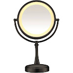 Conair Touch Control Lighted Makeup Mirror, Matte Black