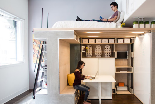 Ingenious Loft Unit Packs 4 Rooms Into 500 Square Feet (Including a Guest Bedroom!)