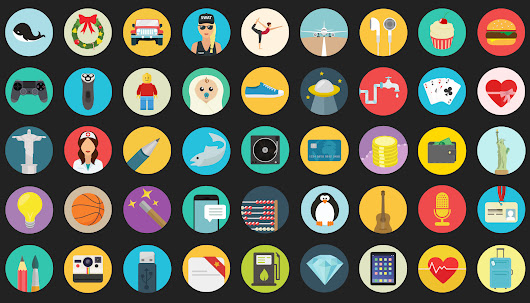 Royalty Free Flat Icons and Line Icons in vector for Web Designers and Developers