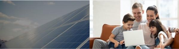 Nederlandse  Solar Maatschappij zonnepanneel en gezien kijkend naar laptop
