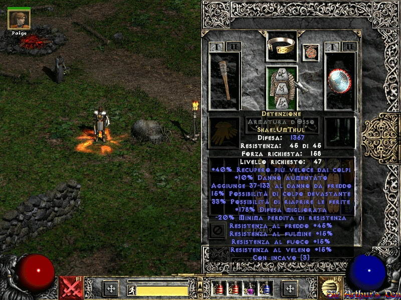 "Diablo II, new ""hellish"" gear for Paladin Abellion | Sir Arthur's Den"