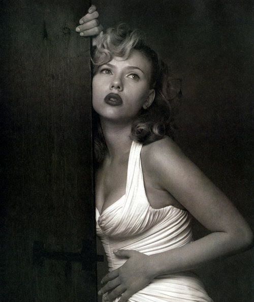 Scarlett photographed by Albert Watson.