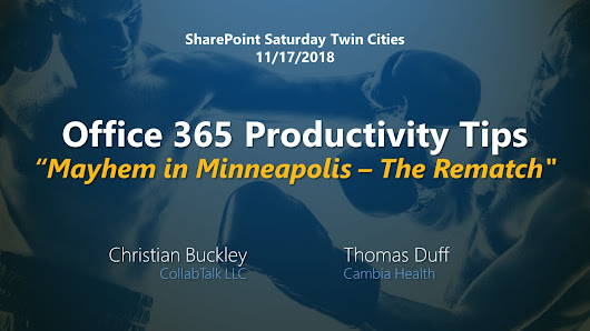 More Productivity (and Mayhem) in Minneapolis - buckleyPLANET