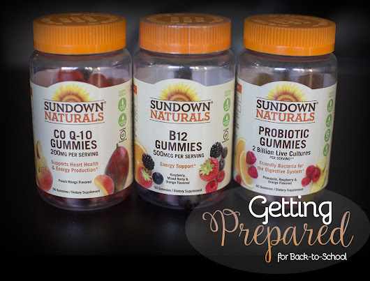 Getting prepared for back to school season with Sundown Naturals® Gummy Vitamins – Behind The Studio