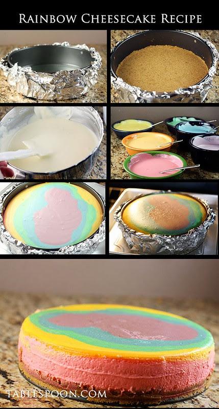 Arco-íris Cheesecake Receita