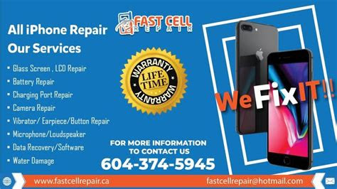 top rated iphone repair  downtown vancouver burnaby