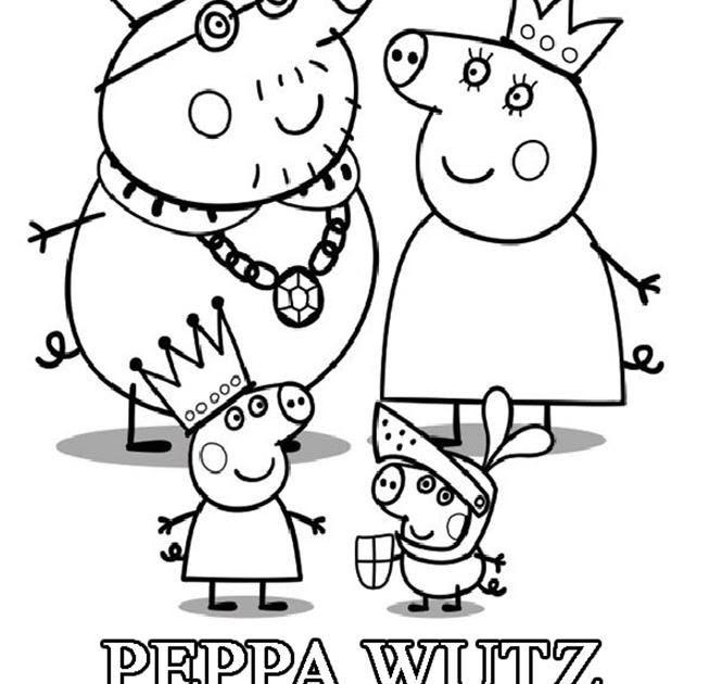 ausmalbilder peppa wutz familie  malvorlagen