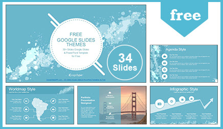 Free Abstract Water Colored Splashes Google Slides Themes Powerpoint Template