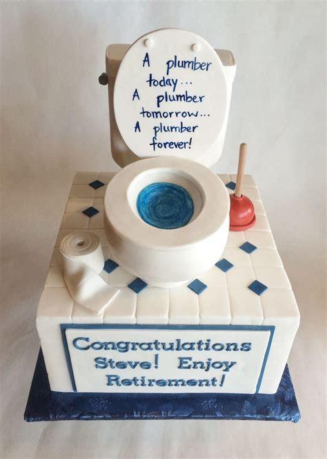 Custom Cake   Retirement   Plumber   Custom topper