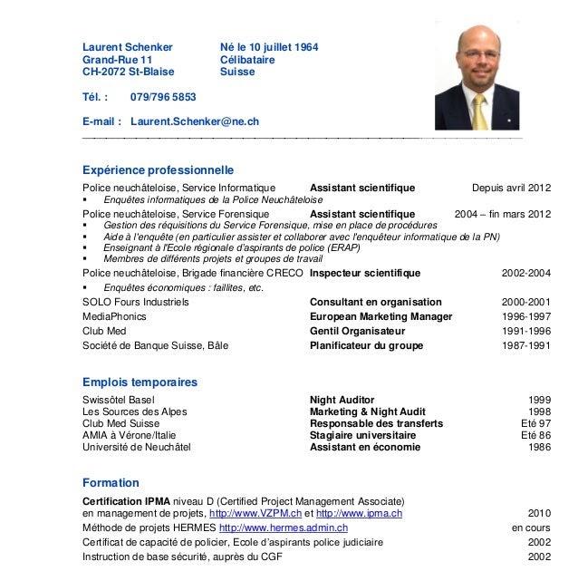 Resume Format: Exemple Cv Enseignant Suisse