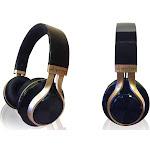 Aduro Resonance Foldable Wireless Bluetooth Headphones - Black/Gold