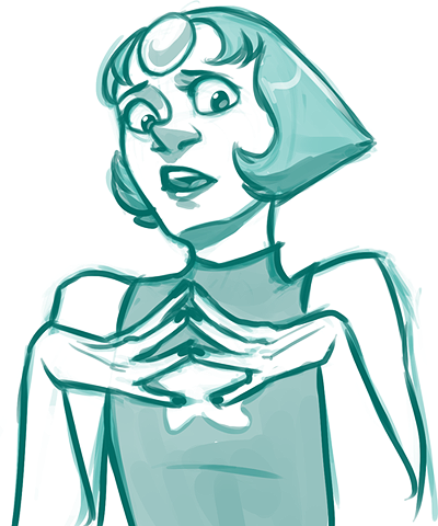 Anonymous said: pearl or amethyst Answer: i havent really drawn pearl much
