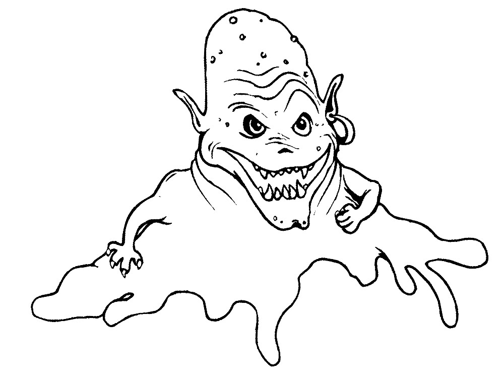 Imprimir Dibujos Para Colorear Monstruos Para Niños Y Niñas