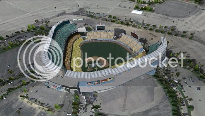 Dodger Stadium (Los Angeles, CA); 3D model by jjasper123