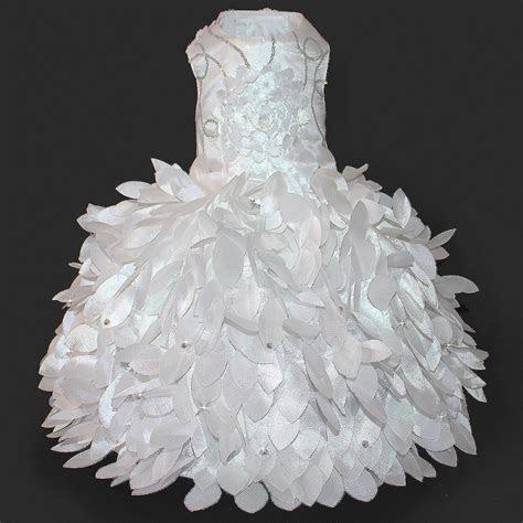 Cinderella Princess White Glamour Dog Wedding Dress