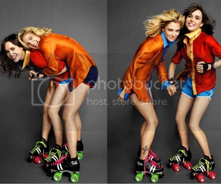 Drew Barrymore and Ellen Page Pictures, Images and Photos