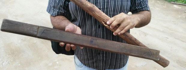 Agentes usavam cacetete com sigla do Estatuto da Criança e Adolescente (ECA) para agredir internos, diz CEDH-PB (Foto: Divulgação/MPF-PB)