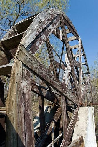Heidis Wooden Waterwheel