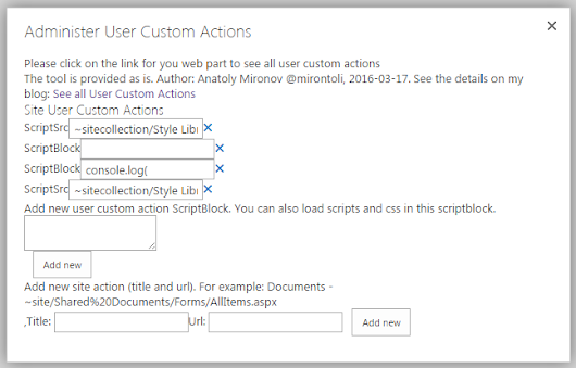A tiny tool for User Custom Actions