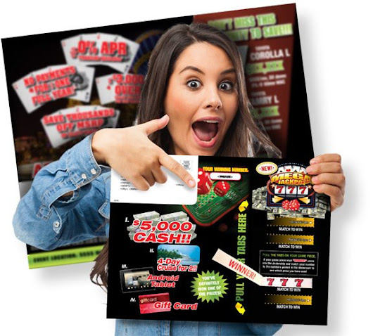 Game On! Casino Pull-Tab Direct Mail Sends BIG Returns!