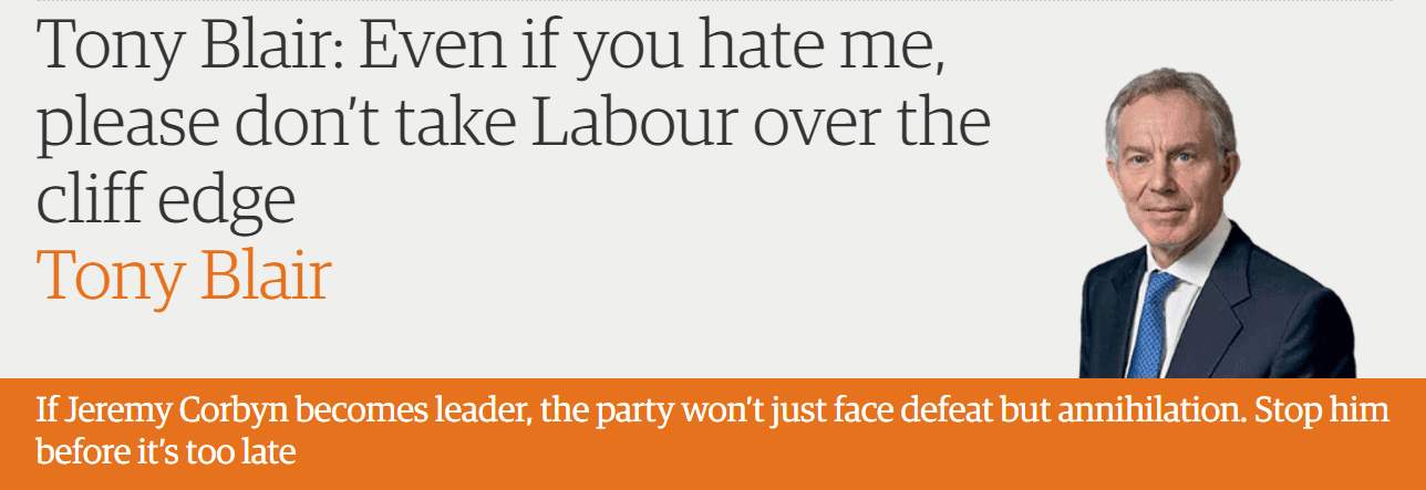 Tony Blair: Even if you hate me, please don't take Labour over the cliff edge