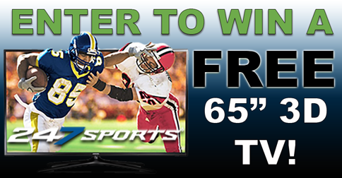 "Enter to win a FREE 65"" Smart 3D TV from 247Sports!"