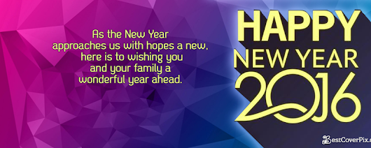 Happy New Year 2016 Facebook Cover Pictures
