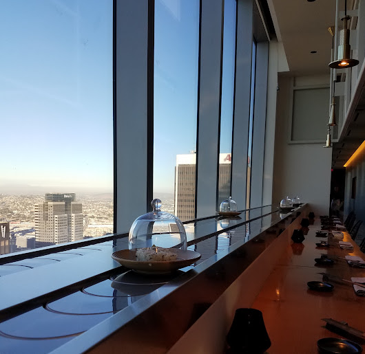 SORA SERVES UP CONVEYOR BEST SUSHI WITH AN AMAZING VIEW OF DTLA FROM 69TH FLOOR OF WILSHIRE GRAND