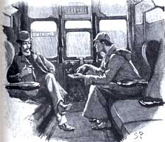 Sidney Paget drawing of Sherlock Holmes and Dr. Watson in Silver Blaze