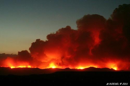 Las Conchas Fire 26 June 2011 21:15