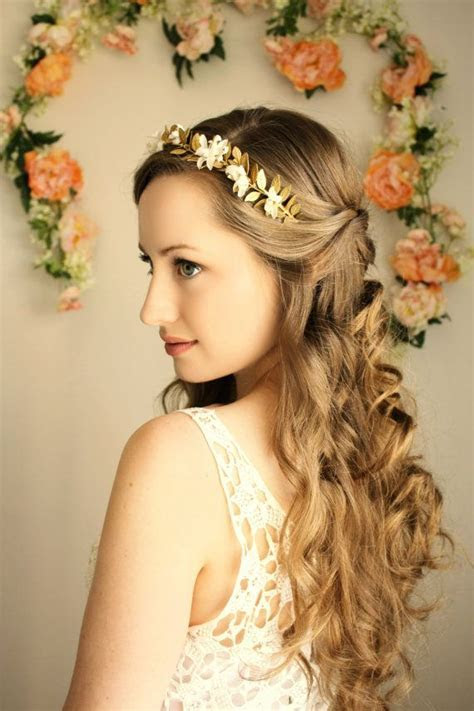 Goddess Flower Crown, Laurel Leaf Headpiece, Grecian Tiara