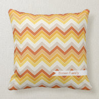 Autumn {chevron pattern} Pillow
