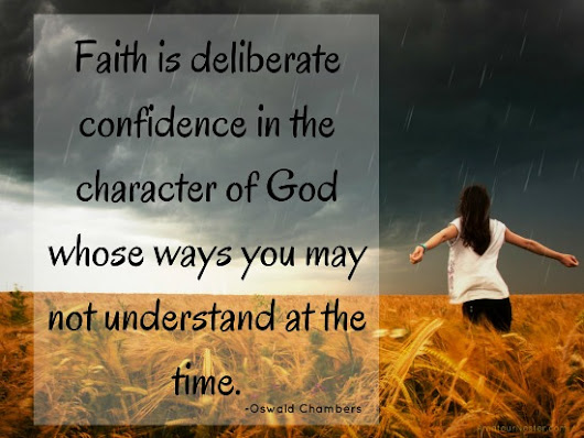 Faith Is Deliberate Confidence {Weekly Infertility Link Up} | Amateur Nester