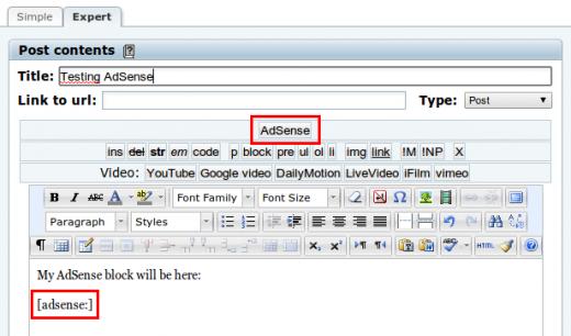 AdSense for b2evolution