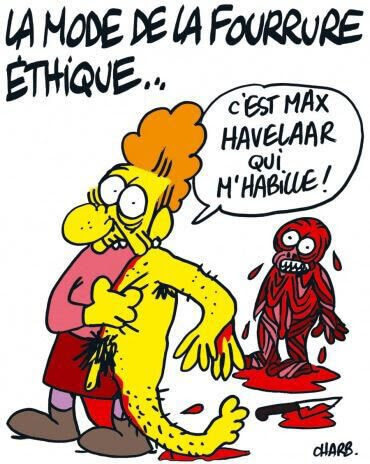 Charlie Hebdo Fur by Charb