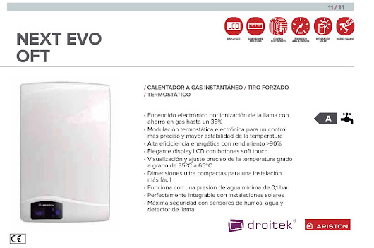Ariston Next Evo OFT calentador de gas de tiro forzado -