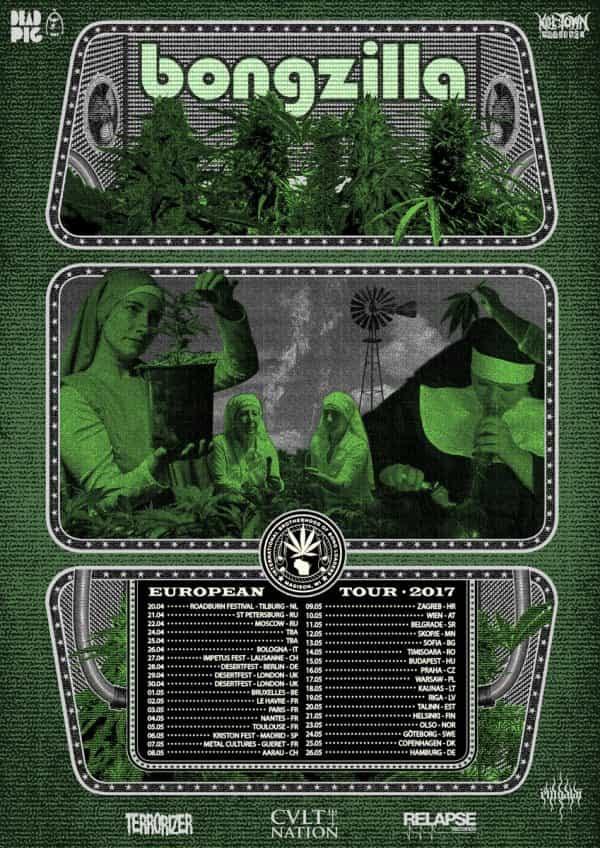 Bongzilla European Tour Poster