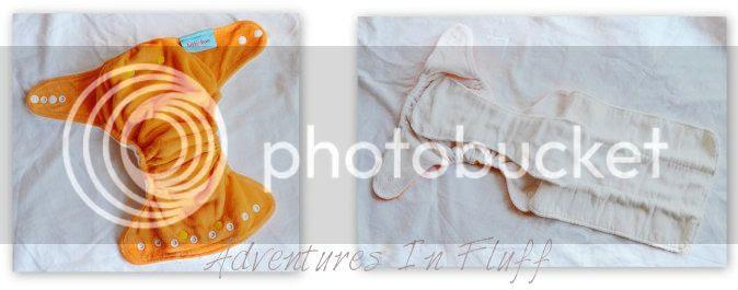 itti bitti bitti boo fitted cloth diaper - inside and outside