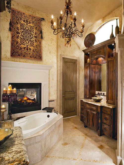Tuscan Bathroom Home Design Ideas, Pictures, Remodel and Decor