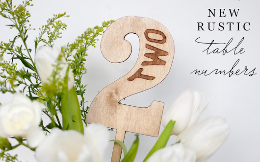 print for love of wood letterpress: new wood table numbers