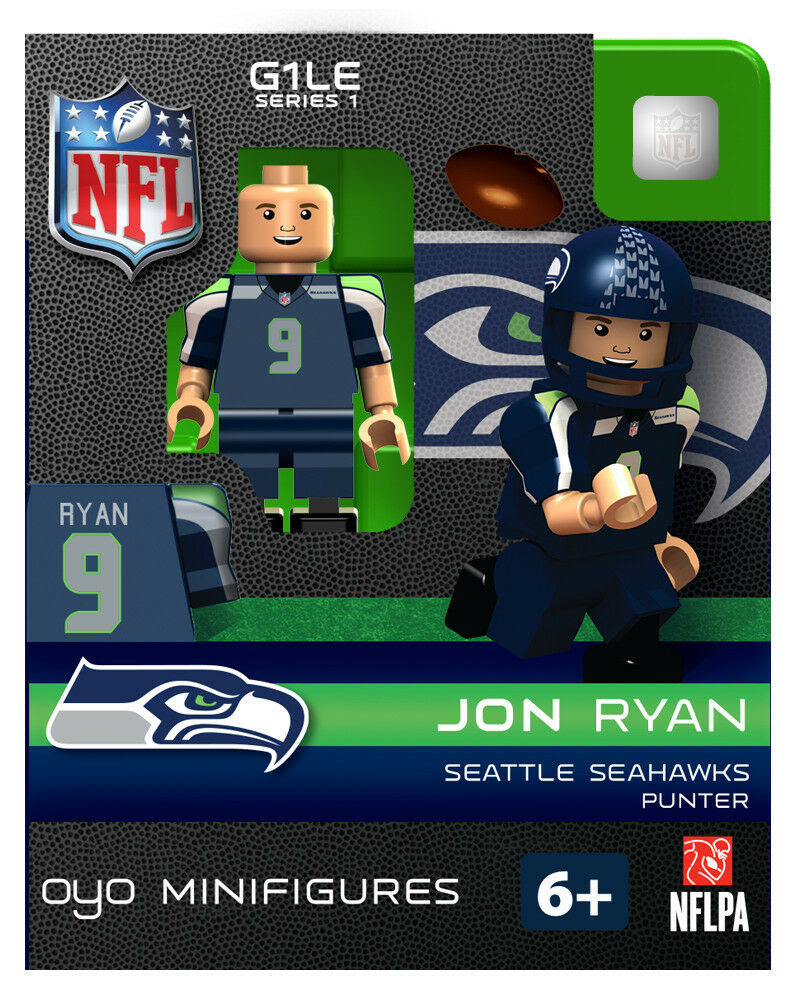 JON RYAN NFL SEATTLE SEAHAWKS Oyo Mini Figure G1 RARE Blue  eBay