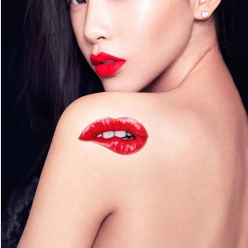 62 Ideas Para Tatuajes De Labios Y Besos Tatuajes Geniales