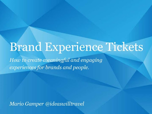 Brand Experience Tickets