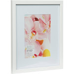 """5"""" x 7"""" , 8"""" x 10"""" Wood Frame White - Gallery Solutions"""