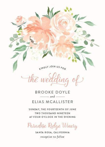 Romantic Floral Wedding Invitations in 2019   Wedding