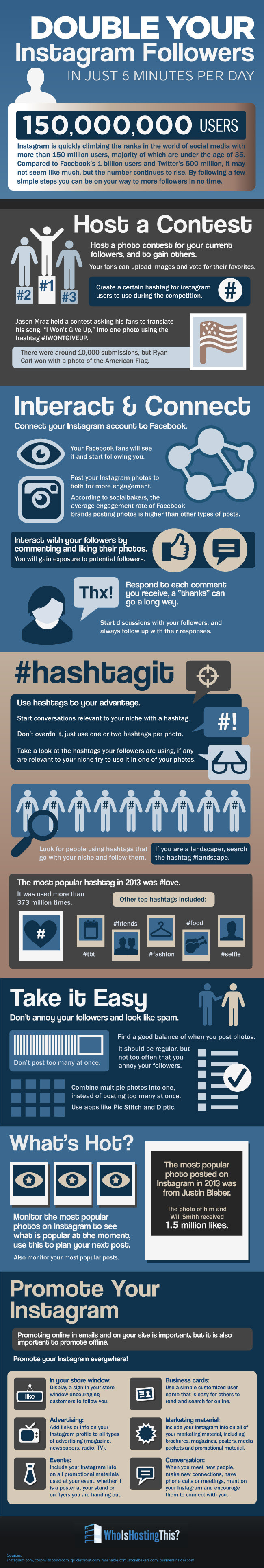 How To Boost Your Instagram Following - Infographic