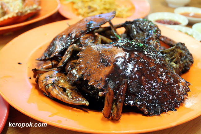 how to make black pepper sauce for crab