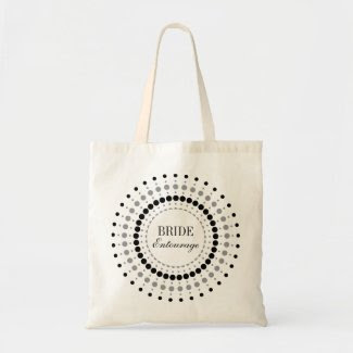 Dots Startburst Bride Entourage Bag