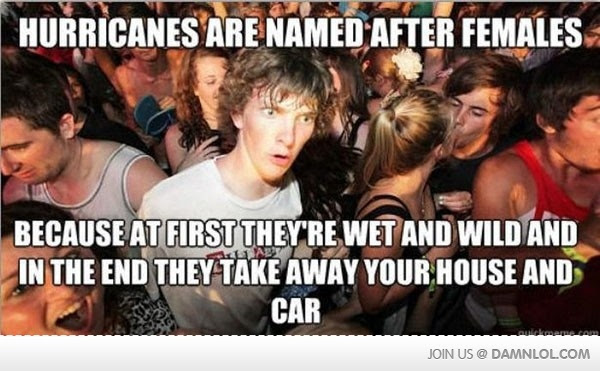 Image result for name hurricanes after women.