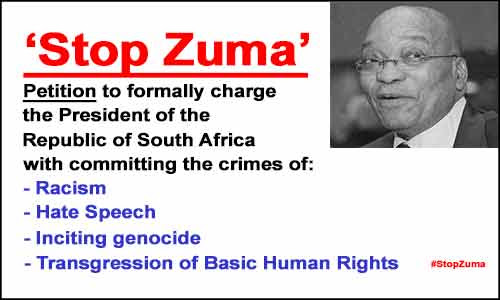 Jacob Zuma to be charged with Crimes Against Humanity